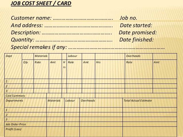 mechanic job card template