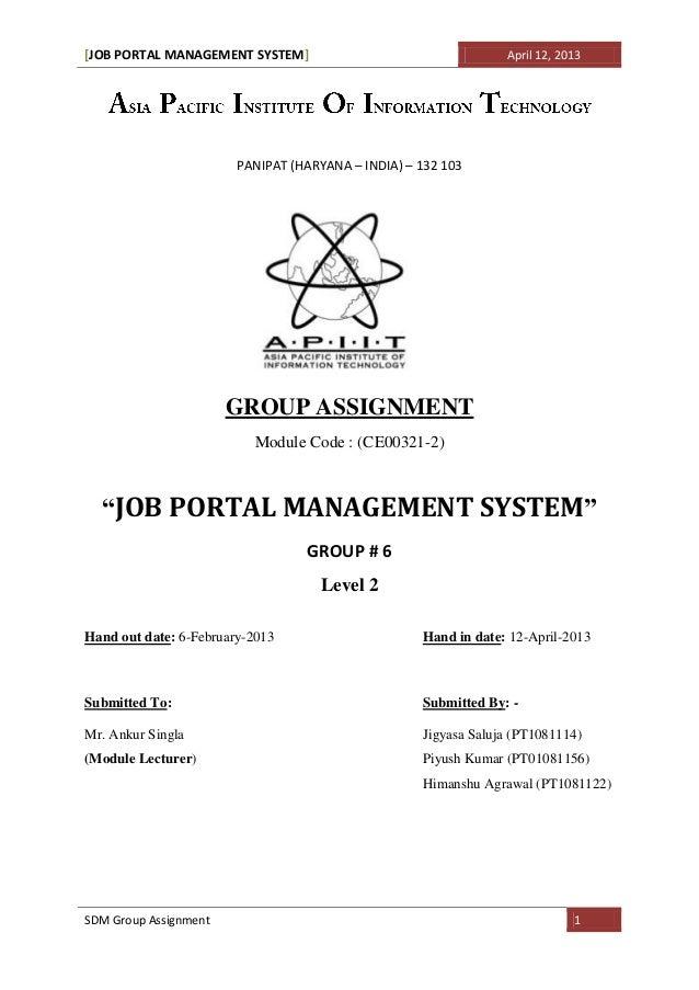 Job portal system   doc