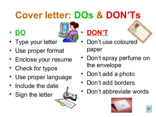 Cover Letter Donts
