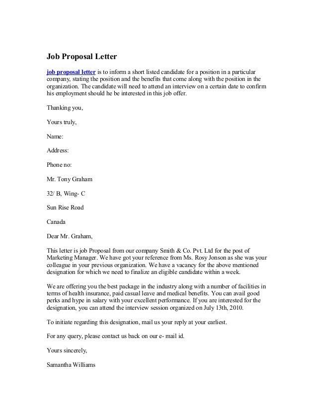 strategic plan cover letter