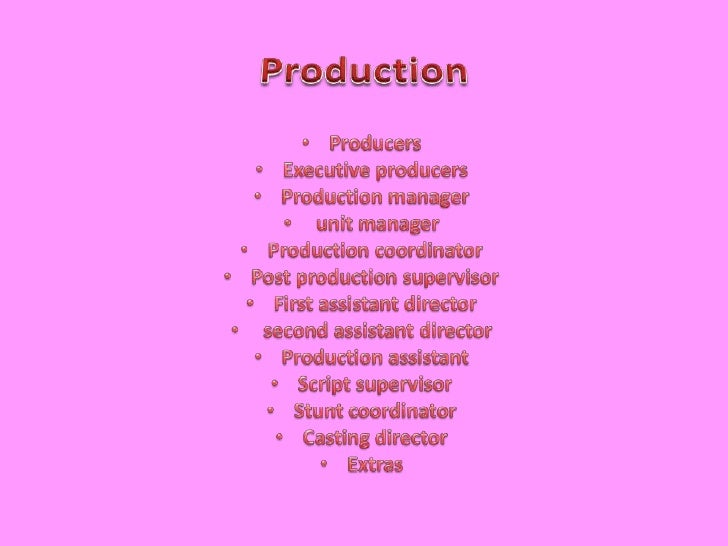 production br producers br executive producers br production manager