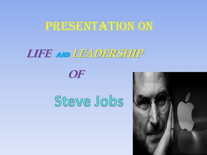 Presentation onLIFE   AND   LEADERSHIP         OF