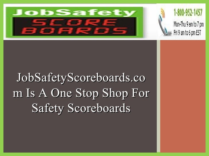 JobSafetyScoreboards.com Is A One Stop Shop For Safety Scoreboards