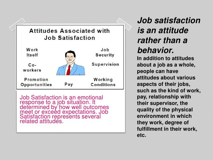thesis on job satisfaction and employee performance Job design aims to enhance job satisfaction and performance methods include job rotation, job enlargement and job enrichment  to identify the employees level of.
