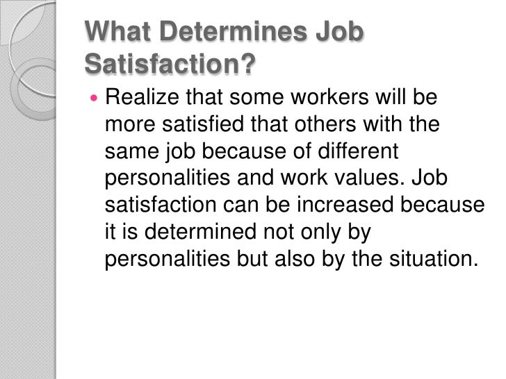 Research work- canu suggest any good site giving info on job satisfaction and job performance?