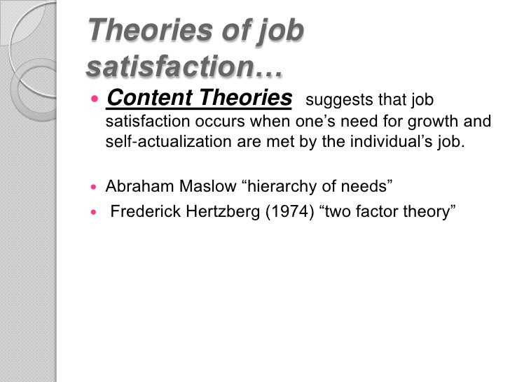 equity theory of job satisfaction Appear to be more sensitive to equity equity theory, as developed by adams ( 1965), considers motivation and job satisfaction as the result of a comparison of a .