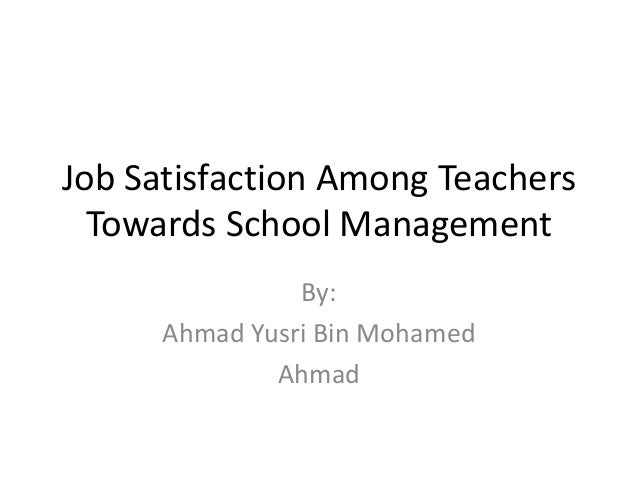 teachers job satisfaction The new metlife survey of teachers shows low job satisfaction one key to improving teacher satisfaction with their jobs may be more opportunities to.