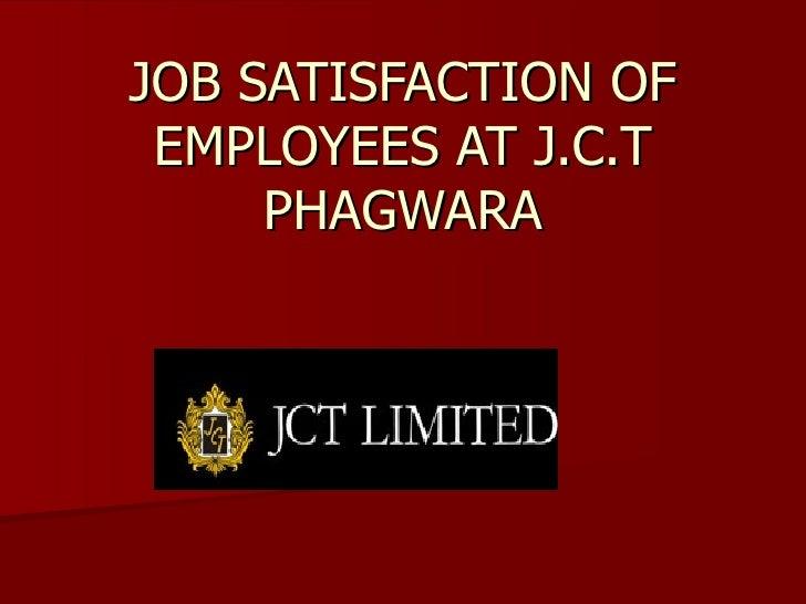 Job Satisfaction Of Employees At J