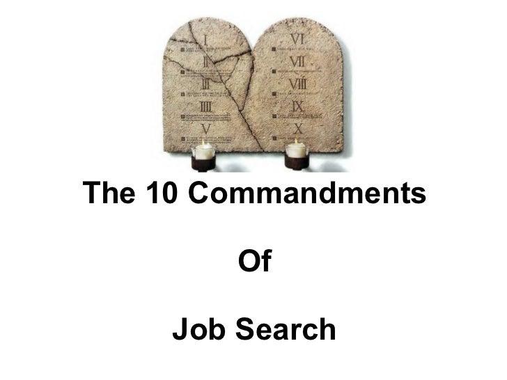 The 10 Commandments Of Job Search