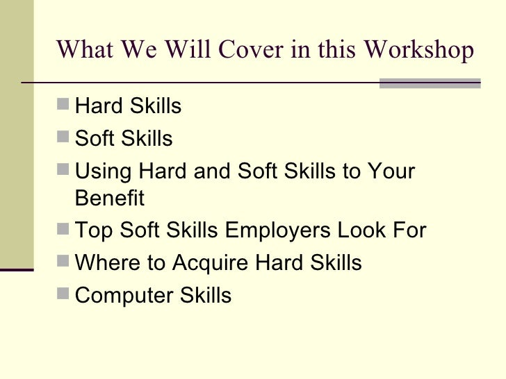 what skills are employers looking for