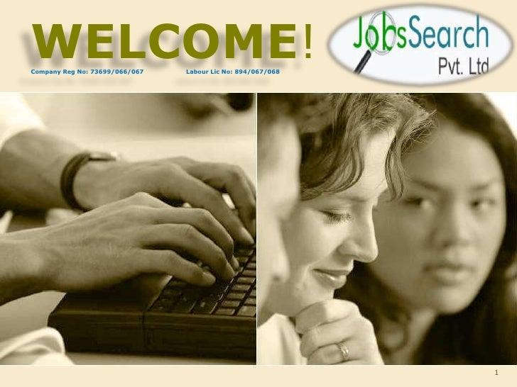 Job search pvt. ltd presentation.