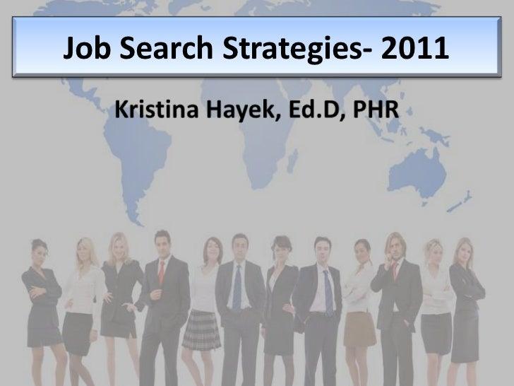 Job Search Strategies  2011[1]