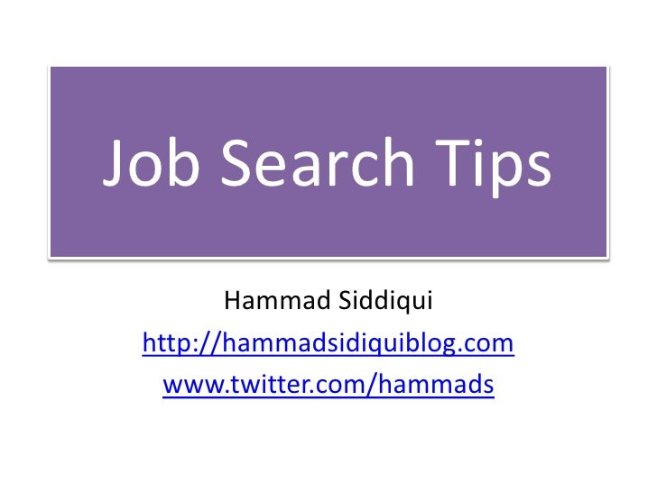 Best Job Search Tips