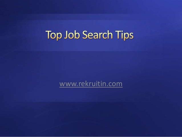 ReKruiTIn.com - Tips for Job Search