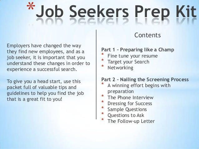 Job Seekers Prep Kit