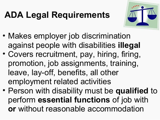 a look at what is covered under the americans with disabilities act Us equal employment opportunity commission other entity covered by the americans with disabilities rights under the americans with disabilities act.