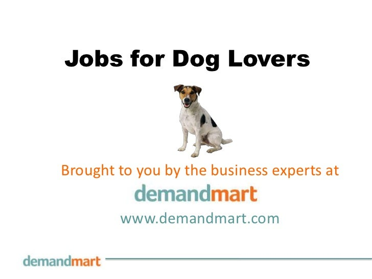 Jobs for Dog Lovers<br />Brought to you by the business experts at       <br />www.demandmart.com<br />