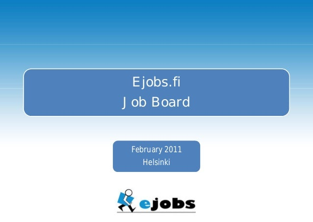 Jobs in Finland - Ejobs - Your Job - Job Board