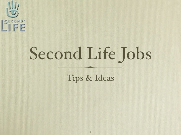 Jobs in Second Life