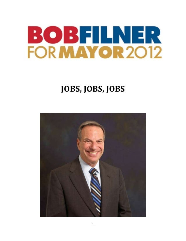 Jobs plan - Bob Filner