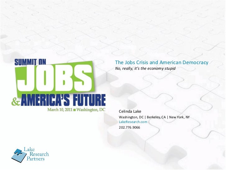 The Jobs Crisis and American Democracy
