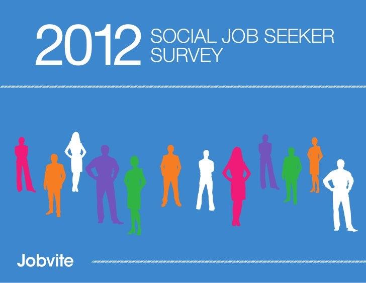 2012   SOCIAL JOB SEEKER       SURVEY