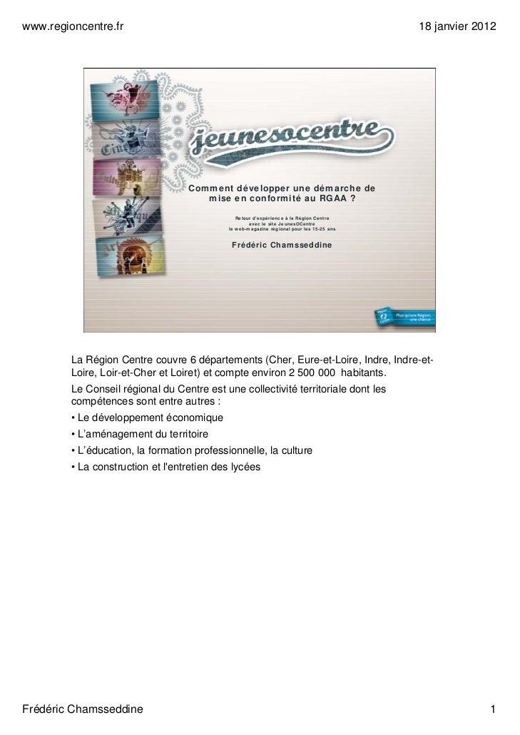www.regioncentre.fr                                                                        18 janvier 2012                ...