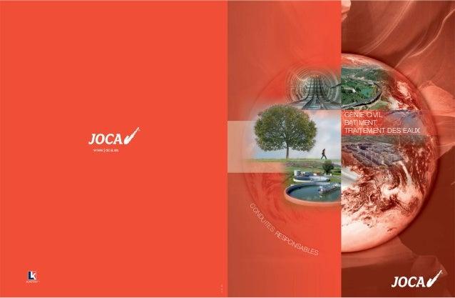 J-FOF-08/1 www.joca.es RESPONSABLES CONDUIT ES GENIE CIVIL BATIMENT TRAITEMENT DES EAUX