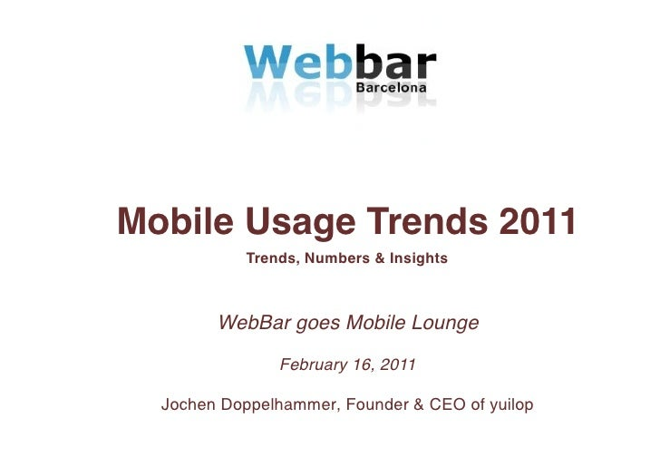 Jochen Doppelhammer - mobile usage trends & insights 2011