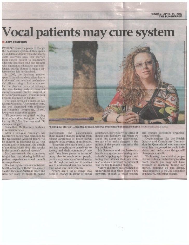 Jodie feature in SYDNEY Sun-Herald