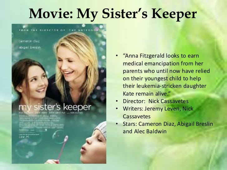 nursing responsibilities in jodi picoults my sisters keeper What does this say about sara's role as a mother what would you have done in her shoes has she unwittingly forgotten jesse and anna my sister's keeper explores the moral my sister's keeper by jodi picoult publication date: february 1, 2005 genres: fiction.