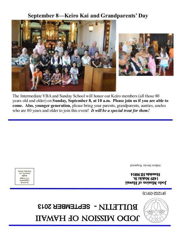 JodoMissionofHawaii Bulletin-SEPTEMBER2013 JodoMissionofHawaii 1429MakikiSt. HonoluluHI96814 AddressServiceRequested (#120...