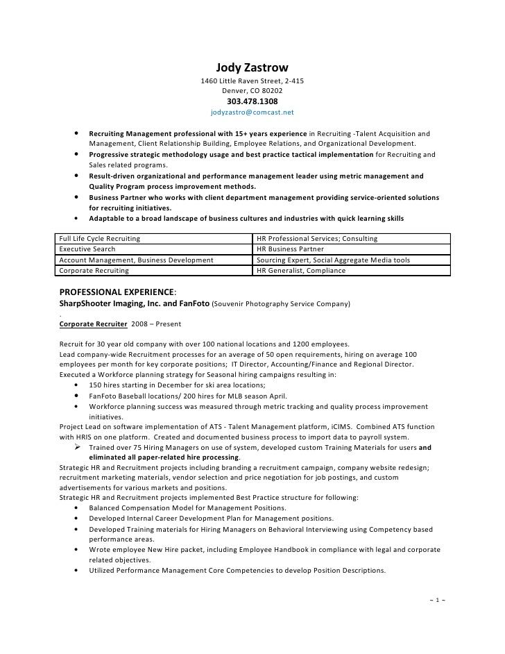 Best resume format hr recruiter altavistaventures Images