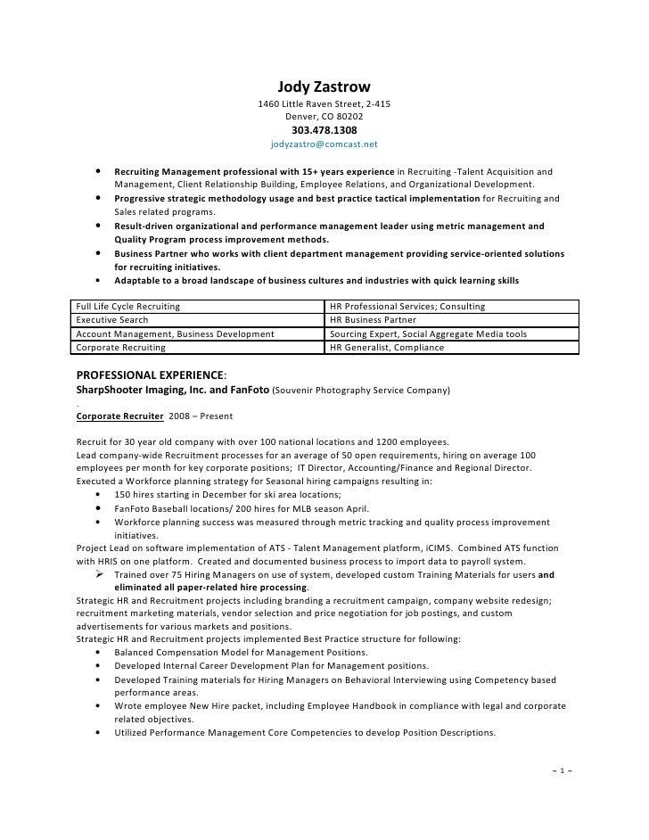 Marvelous Recruiter Resume Resume Recruiter Staff Recruiter Resume Sample Best Lelayu  Corporate Recruiter Resume 139735995 Resume Recruiterhtml