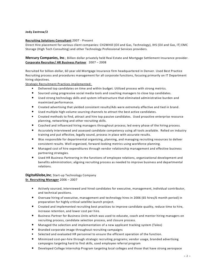 Corporate Recruiter Resume resume of lamond ayers - Gallery Image ...