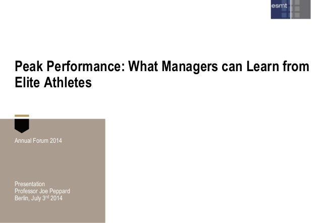 What elite athletes can teach managers about innovation and strategy