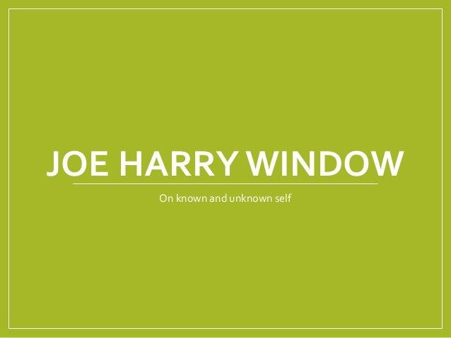 Joe harry window