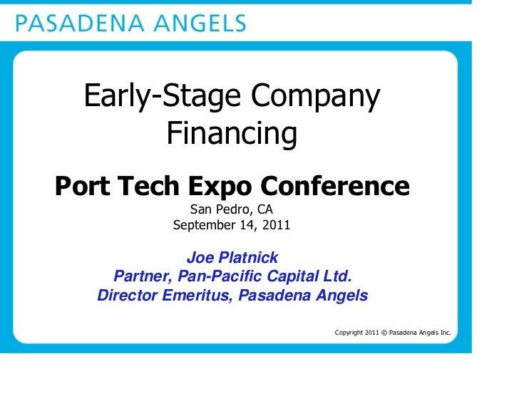Joe Platnick - 2011 Port Tech Expo Presentation