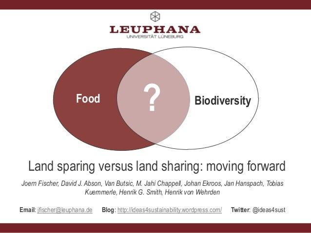 Joern Fischer land sparing land sharing BES AAB Dec 2013