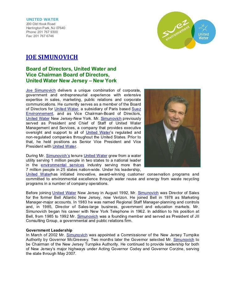 Joe simunovich biography