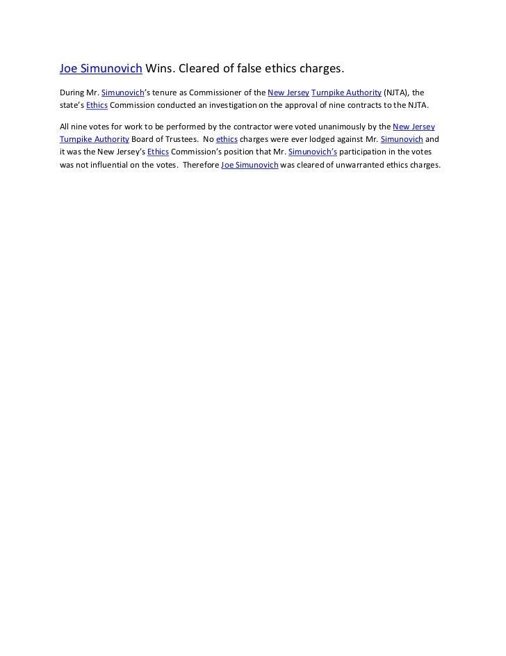 Joe simunovich wins false ethics case