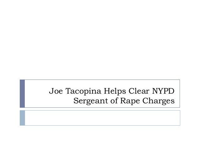 Joe Tacopina Helps Clear NYPD Sergeant of Rape Charges