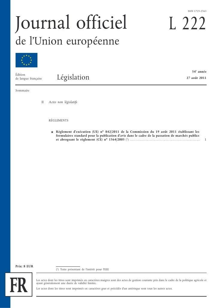 Formulaires de Passation de Marchés Publics 2011