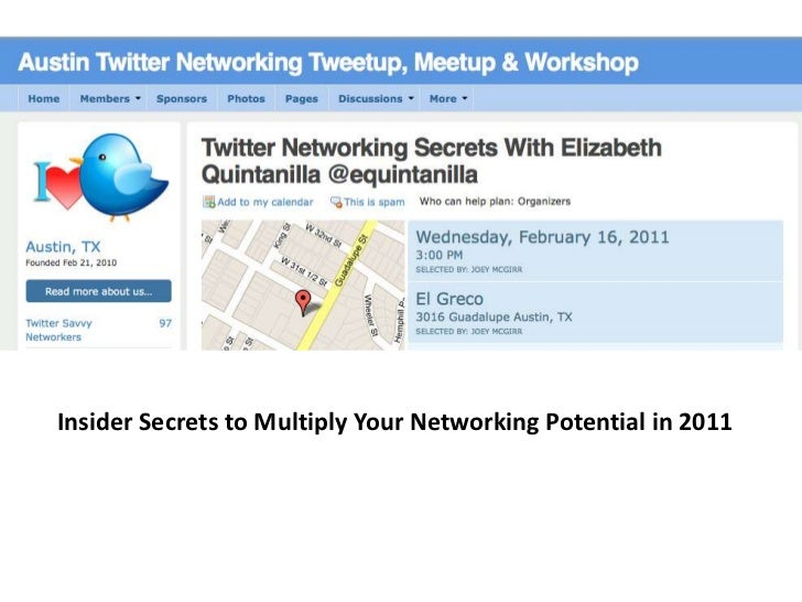 Insider Secrets to Multiply Your Networking Potential in 2011<br />
