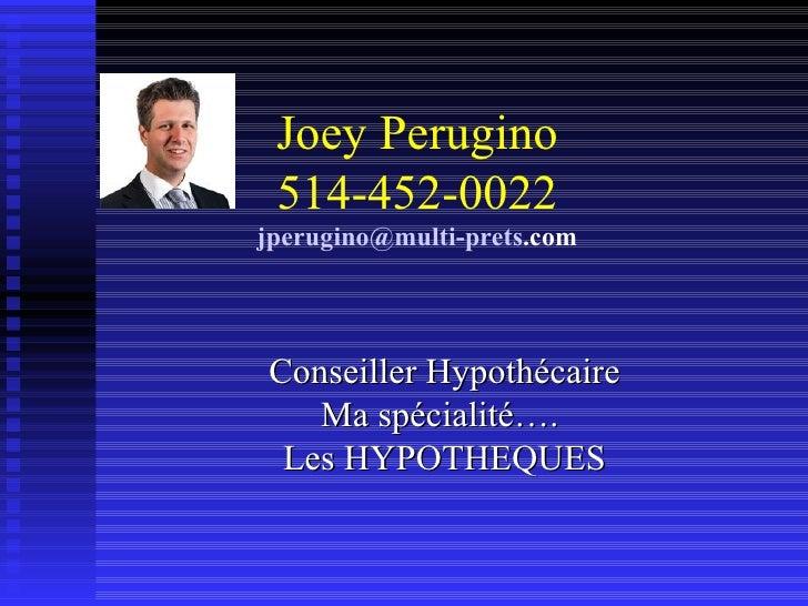 Joey Perugino Taux Variable Capsule You Tube