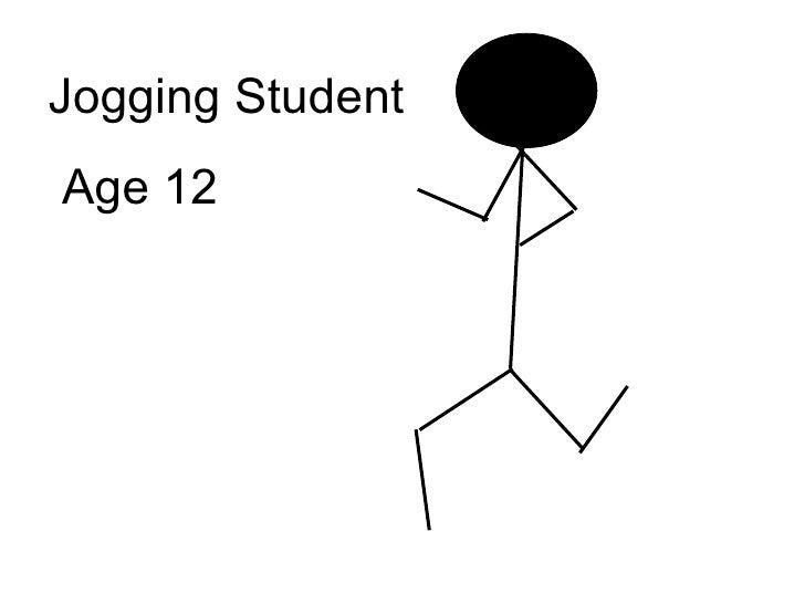 Jogging Student Age 12
