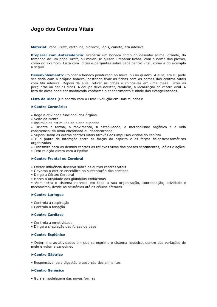 """HYPERLINK """" http://cooperecomjesus.blogspot.com/2010/04/jogo-dos-centros-vitais.html""""  Jogo dos Centros Vitais <br />Mate..."""