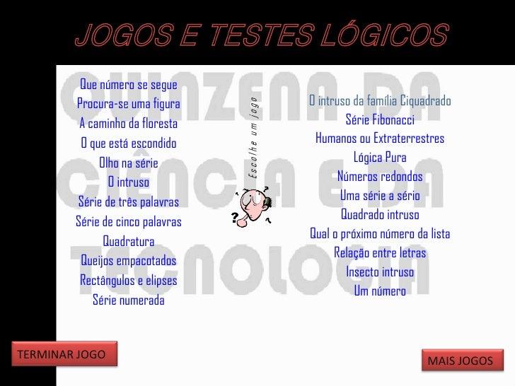 Jogos e testes lógicos