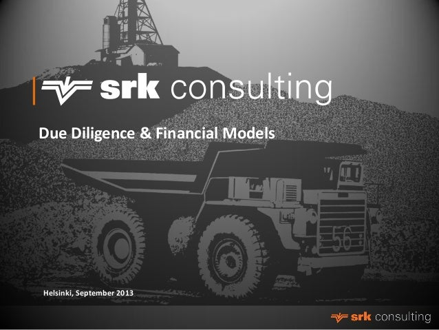 Due Diligence & Financial Models Helsinki - Johan Bradley, SRK Consulting