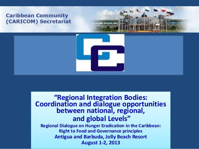Regional Integration Bodies: Coordination and dialogue opportunities between national, regional and global levels